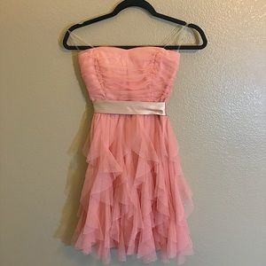 Dresses & Skirts - juniors pink strapless glittery dress